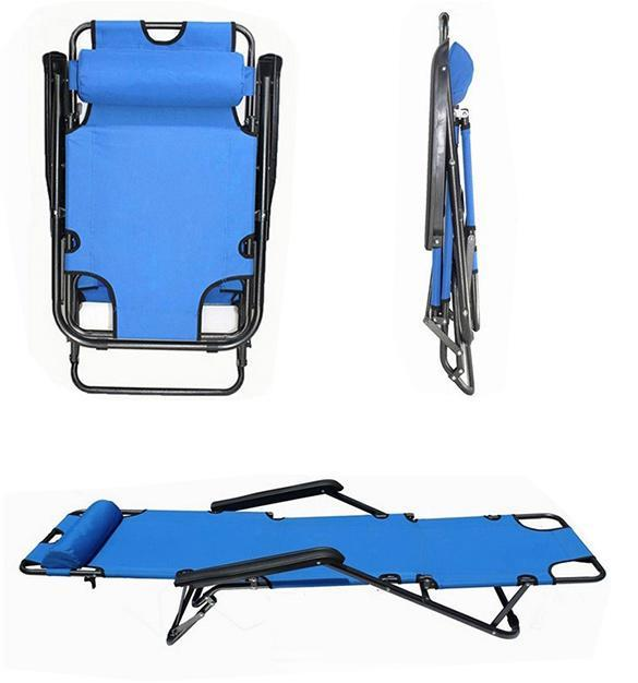 600d Portable Chair Recliner Yard Folding Pool Beach