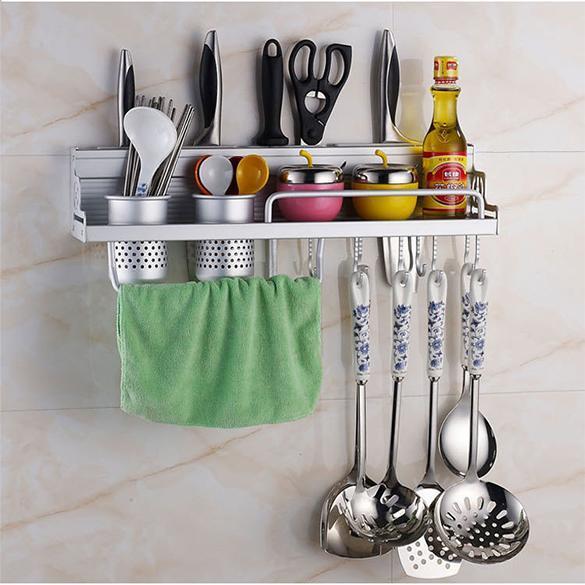 Kitchen Shelf Holders: Kitchen Wall Mounted Pantry Storage Rack Organizer Knife
