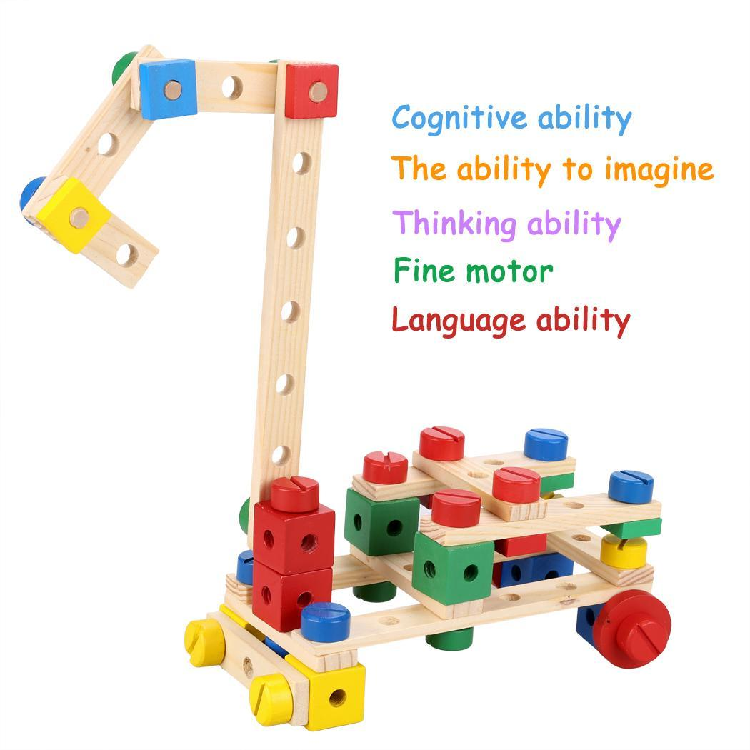 Building Construction Toys : Pcs functional wooden nuts and bolts combination toys